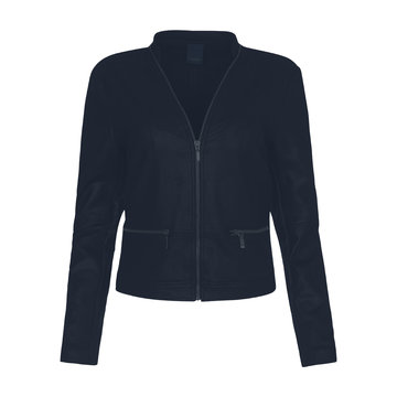 One Two Luxzuz Donker Blauw Maise suède coated jacket