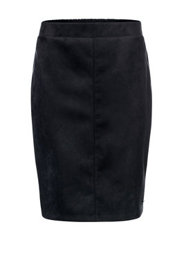 Dayz Alette - Zwart skirt suède look a like