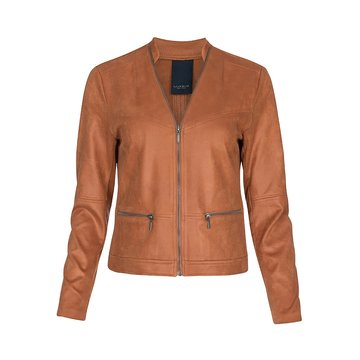 One Two Luxzuz Cognac Maise suède coated jacket