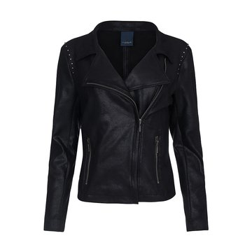 One Two Luxzuz Zwart Majka Coated Suede Jacket