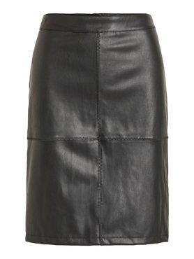 Vila Vipen new coated skirt black