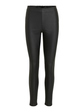 Vila Vicommit Coated RWSK plain legging Black