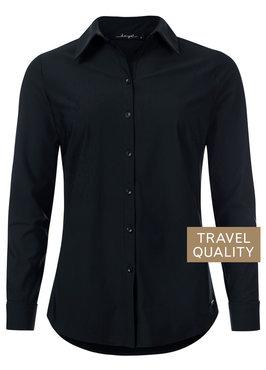Dayz Becca - Blouse zwart in travel stof