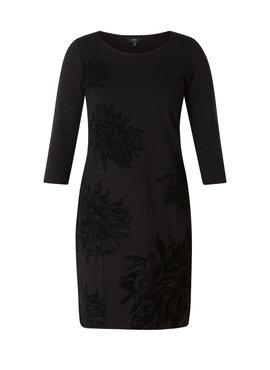 Yest zwarte jurk met bloemen print