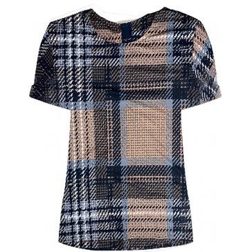 One two luxzuz Karin t-shirt Check Sahara