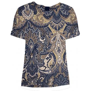 One two luxzuz Karin T-Shirt Smoke Blue