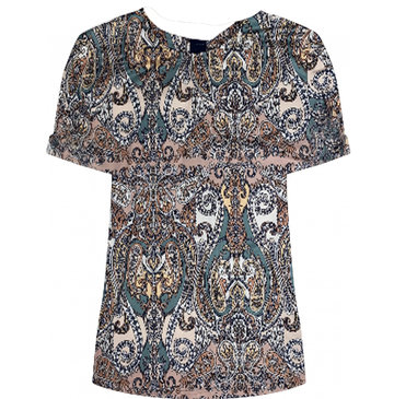 One two luxzuz Karin T-Shirt Peacan Brown