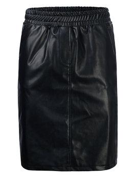 Dayz Fiene -  Look a like leather zwarte rok