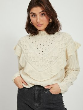Vila Vimilla L/S Knit top Birch trui