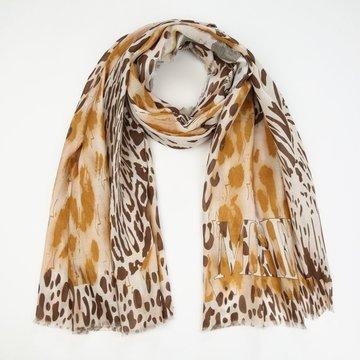 Dunnere sjaal met leo print
