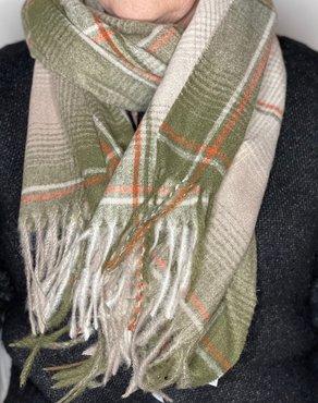 Groene blok sjaal
