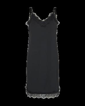 Freequent Zwarte kante jurk Bicco-st-dr