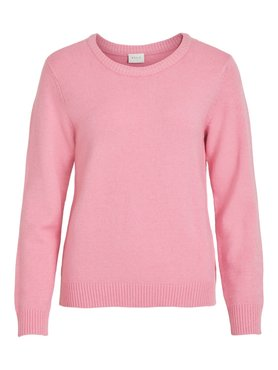 Vila Viril O-Neck L/S Knit Top Wild Rose MELANGE