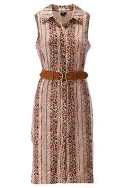 K-Design Mouwloze jurk met streep motief S134-P162
