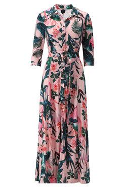 K-Design Maxi jurk met roze print S112-P169