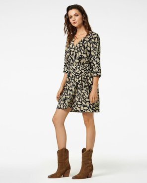 Freebird Odette Mini dress 3/4 sleeve