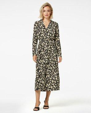 Freebird Vikas Midi Paisley dress long sleeve