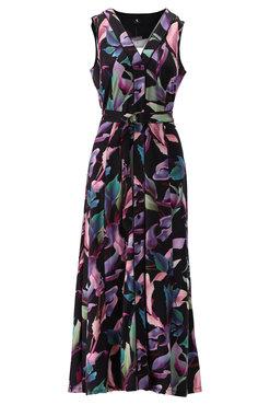 K-Design Maxi jurk met paarse print S841-P120