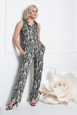K-Design Jumpsuit met slangenprint S887-P172