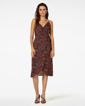 Freebird Midi dress short sleeve DOT-FLOWER-VIS-01 TALA