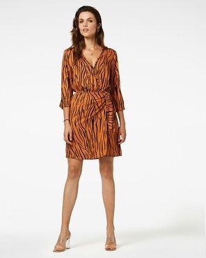 Freebird Mini Dress 3/4 Sleeve Odette Zebra