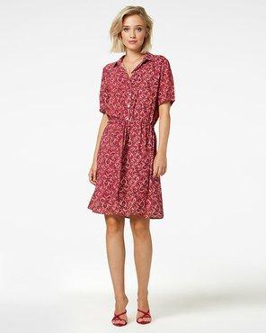 Freebird Mini dress short sleeve SUZY pink