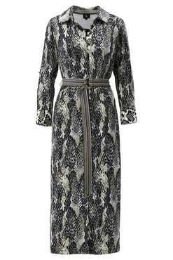 K-Design Maxi jurk met riem met slangenprint S885-P172