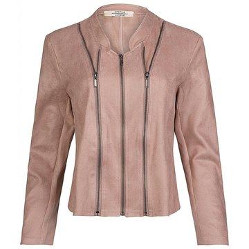 One Two Luxzuz Vintage Rose Athena jacket met ritsjes.