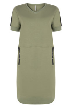 Zoso Angie Sporty dress with techzippers green