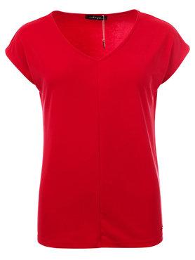 Dayz Aretha rood cupro v-hals met kapmouw