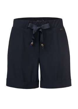 Dayz Arezzo Navy korte broek van travel stof