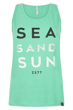 Zoso Sun Green Sporty top with print