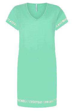 Zoso Vera Green Sporty dress with print