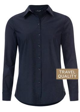 Dayz Becca - Blouse donker blauw in travel stof