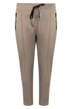 Zoso Hope Taupe Sweat pant with techzippers