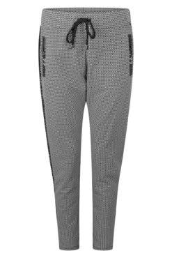 Zoso Simone Black Sporty printed trouser