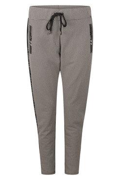 Zoso Simone Taupe Sporty printed trouser
