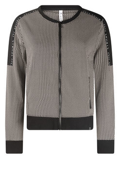 Zoso Daily taupe Sporty printed jacket