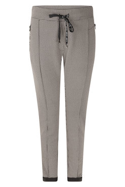 Zoso Denise Black Sporty printed trouser