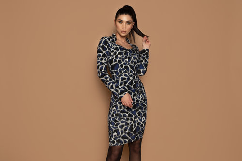 Chiarico Dress Lin Raff Print