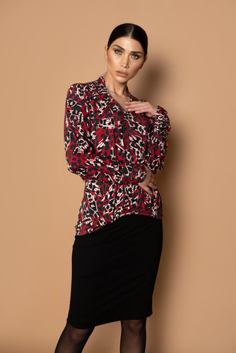 Chiarico Top Angeline Abstract print