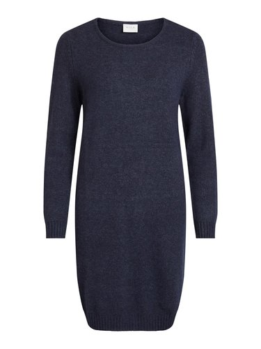 Vila Viril L/S Knit Dress Blauw