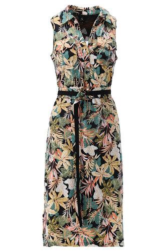 K-Design Midi jurk tropische bloemenprint S108-P168