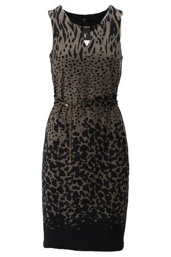 K-Design Mouwloze jurk met print S868-P173