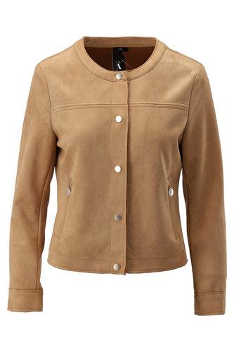 K-Design Vest met ronde hals Soft Camel S302-S