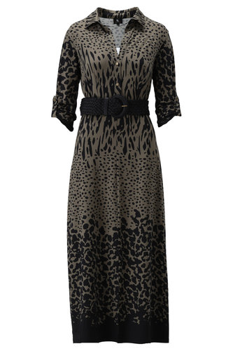K-Design Maxi jurk met riem S866-P173