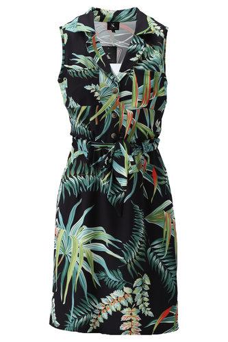 K-Design Mouwloze jurk met zakjes S895-P126