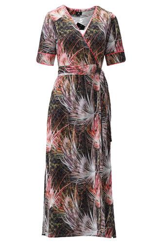 K-Design Maxi jurk met vaste overslag S860-P119