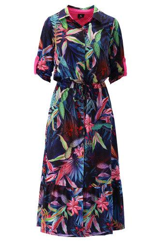 K-Design Maxi jurk met fleurige print S869-P129