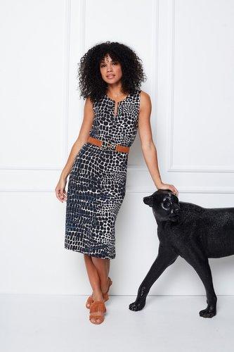 K-Design Mouwloze jurk met Print S883-P174